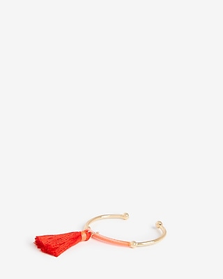 Express Womens Wrapped Tassel Cuff Bracelet