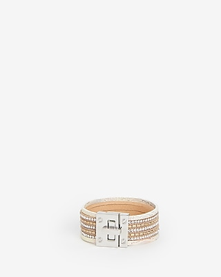 Express Womens Mixed Print Turnlock Cuff Bracelet