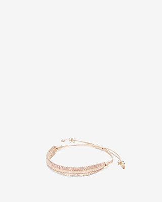 Express Womens Woven Faceted Pull-Cord Bracelet