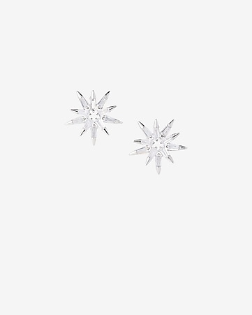 cubic zirconia starburst post earrings