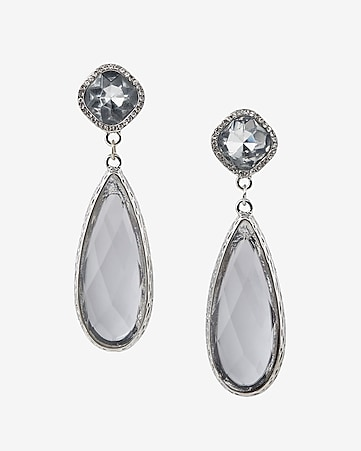 push back teardrop earrings