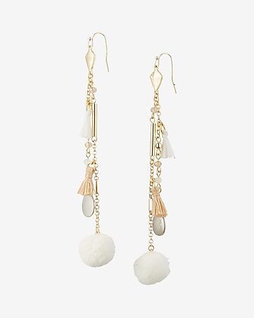 linear tassel drop earrings