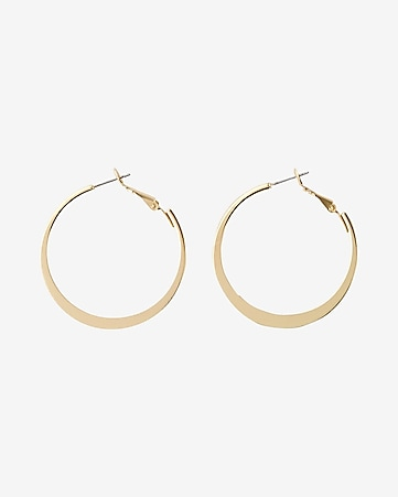 flat metal hoop earrings
