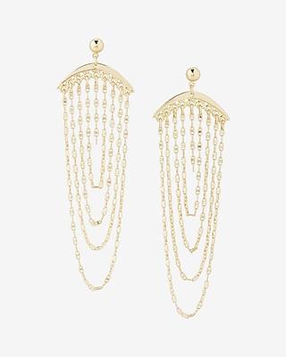 Express Womens Drape Chain Drop Earrings