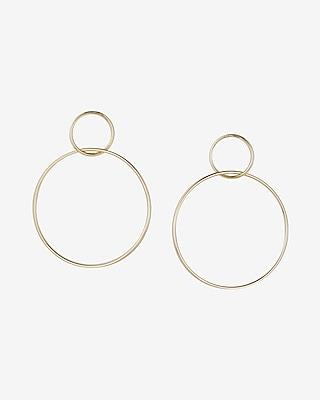 Express Womens Interlock Hoop Earrings
