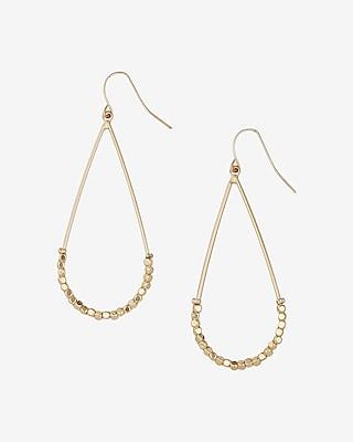 Express Womens Oval Bead Hoop Earrings