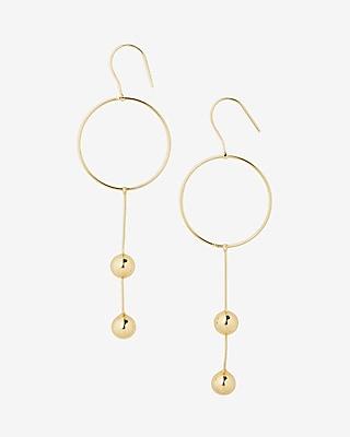 Express Womens Circle Ball Drop Earrings