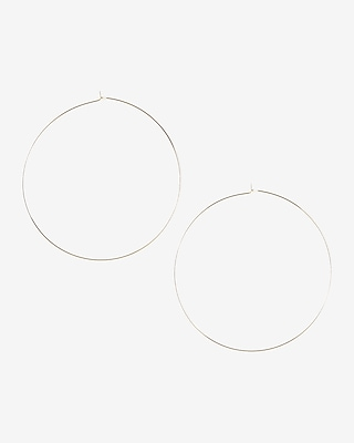 Express Womens Thin Metal Hoop Earrings 00768084
