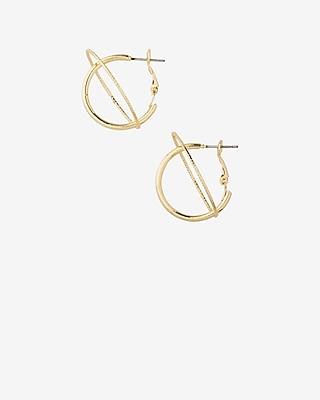 Express Womens Orbit Hoop Earrings