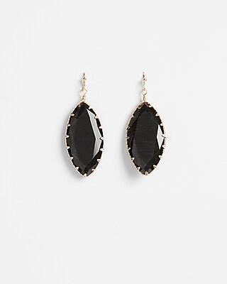Express Womens Faceted Oblong Drop Earrings