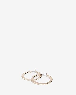 Express Womens Flat Metal Hoop Earrings