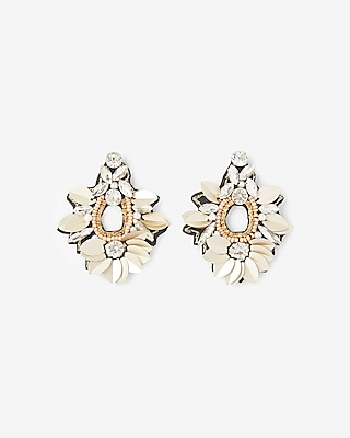 Express Womens Sequin Stone Drop Earrings