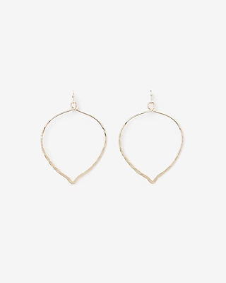 Express Womens Hammered Teardrop Earrings