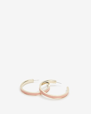 Express Womens Enamel Hoop Earrings