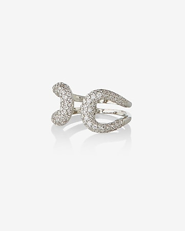 cubic zirconia open buckle ring