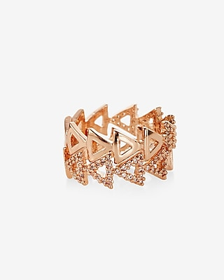 Express Womens Set Of Two Triangle Cut-Out Rings