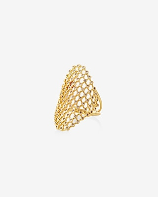 Express Womens Woven Pave Ring