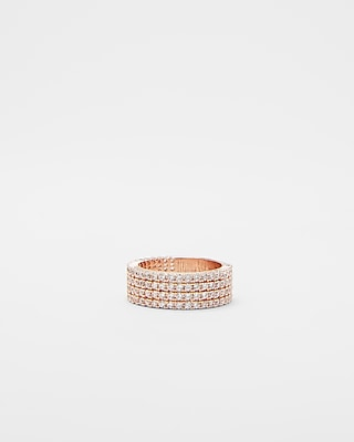 Express Womens Pavé Four Row Ring