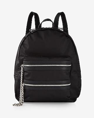 Express Womens Nylon Chain Pocket Backpack