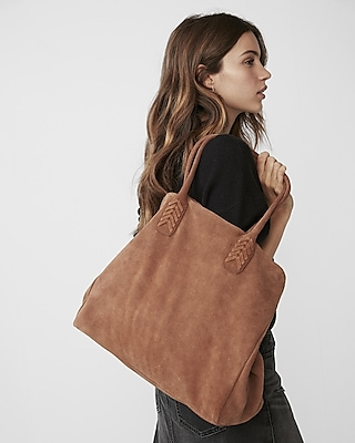 Express Womens Genuine Suede Tote