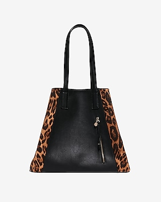 Express Womens Leopard Tote