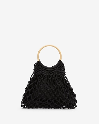 Express Womens Crochet O-Ring Tote