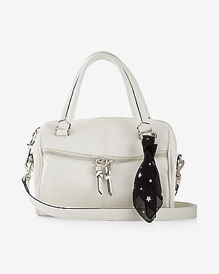 Express Womens Scarf Embellished Barrel Satchel