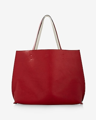 Express Womens Street Level Reversible Tote With Wristlet