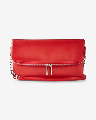 Express Womens Fold-Over Cross Body Bag