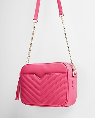 Express Womens Quilted Camera Bag Pink