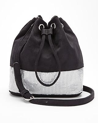 Express Womens Metal Mesh Bucket Bag