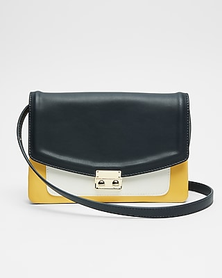 Express Womens Color Block Crossbody Bag Blue