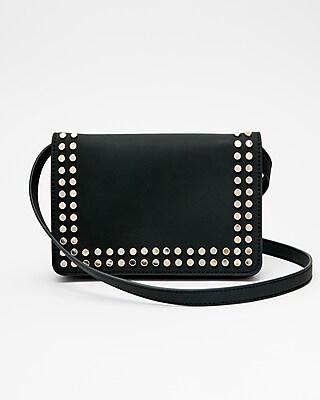 Express Womens Studded Flat Crossbody Bag