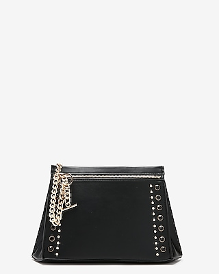 Express Womens Stud And Chain Clutch