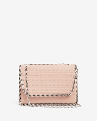 Express Womens Chain Detail Quilted Shoulder Bag