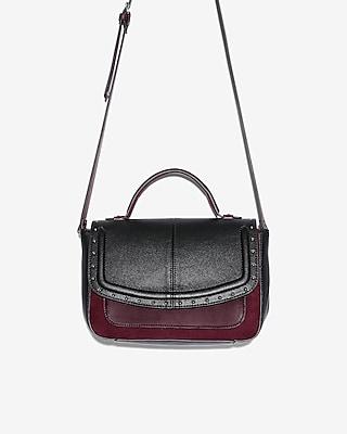 Express Womens Studded Color Block Crossbody Bag