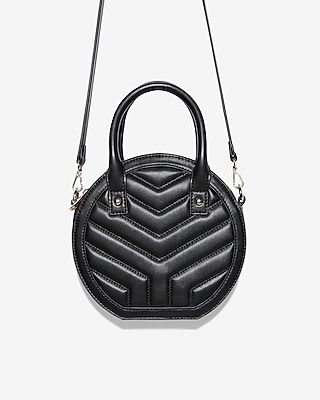 Express Womens Quilted Circle Crossbody Bag