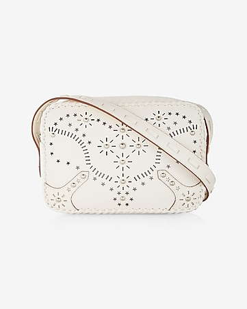 perforated western cross body bag