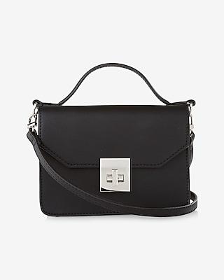 Express Womens Mini Turnlock Cross Body Bag