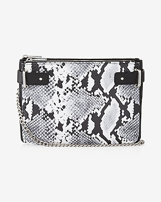 Express Womens 2-In-1 Snake Cross Body Bag