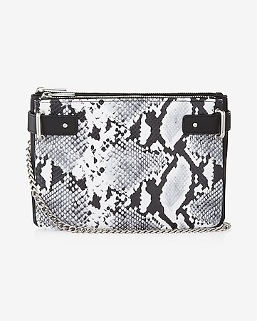 2-IN-1 snake cross body bag