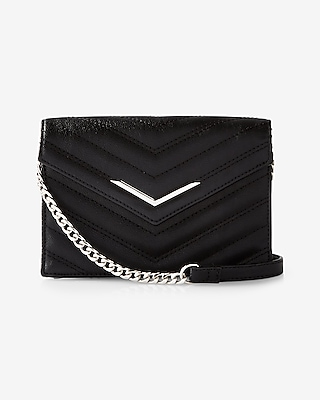 Express Womens Mini Quilted Cross Body Bag
