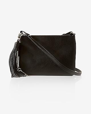 Express Womens Tassel Key Crossbody Bag