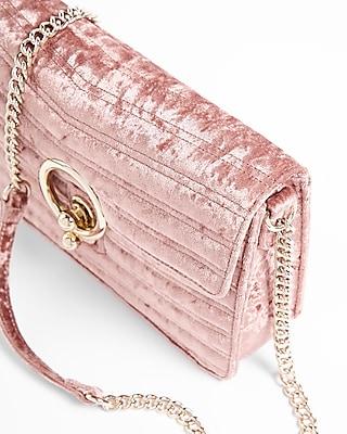 Velvet O-ring Shoulder Bag