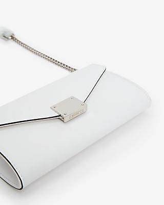 Express Womens Chain Strap Wallet White Women's  White