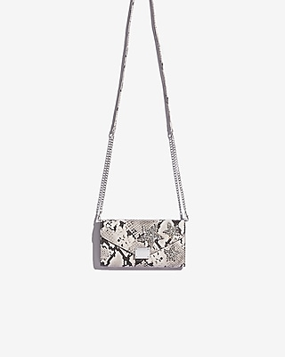 Express Womens Embellished Snake Chain Strap Wallet