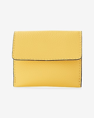 Express Womens Fold-Over Card Holder Yellow