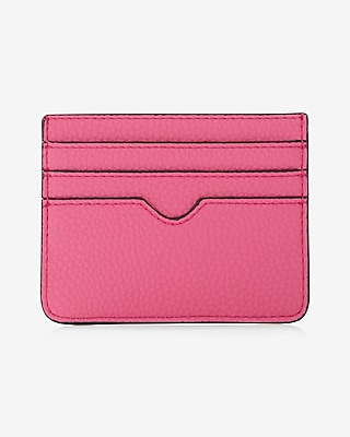 Express Womens Slim Credit Card Wallet Pink Women's  Pink