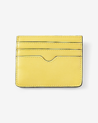 Express Womens Slim Credit Card Wallet Orange Women's  Orange