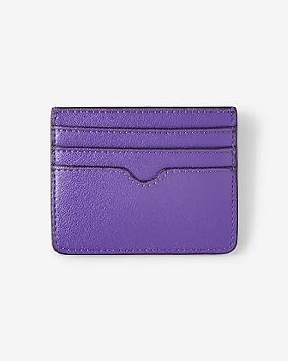 Express Womens Slim Credit Card Wallet Purple Women's  Purple